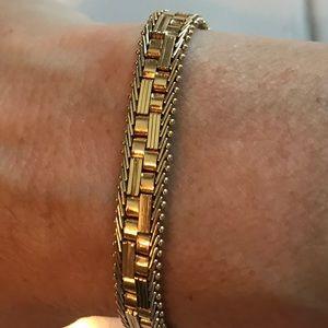 """14K Imperial Gold Cobblestone 7"""" 18.1g Bracelet"""